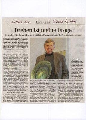 "Grasberg, Alemania, 2015, Galería  Heide Nagel, Expo ""Farb-Träume"", con Jutta Frankenstein"