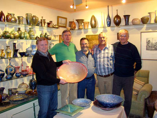 con Hans Wehnert, Avi Harriman, Phil Hamling, Ferenc Halmos