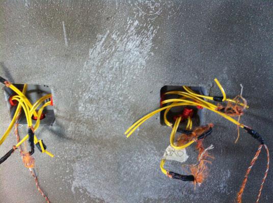Kabel sind eingezogen