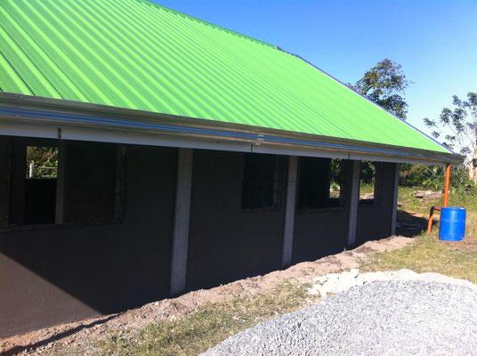 Fassade Südseitig fertig verputzt
