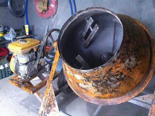 Trommelmischer mit Motor