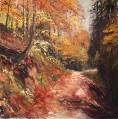 Autumn Leaves Nr. 3, Öl_Lwd. 80x80cm