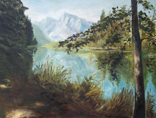 Blick auf den See II,Öl_Lwd.60x80cm