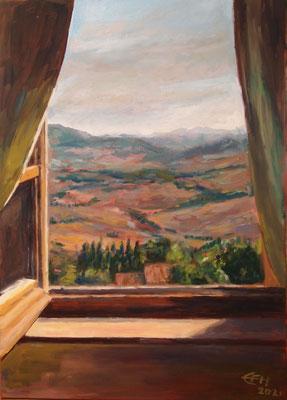 Nice View, Tuscany  Öl_Lwd.50x70cm