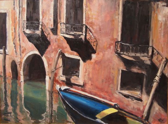 Summer In Venice, 73x98cm,Öl_Holz