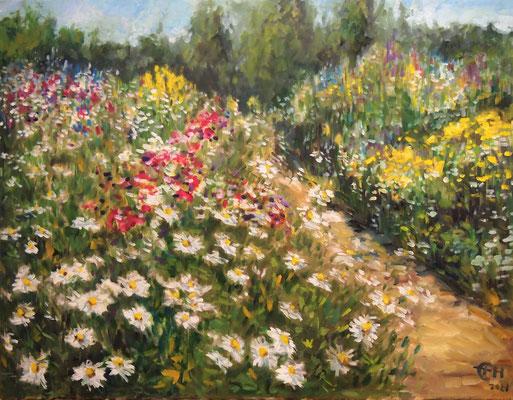 Wildflowers  Öl_Lwd. 70x90cm