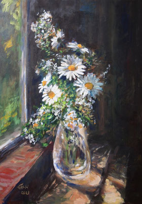 Flowers By The Window, Öl_Lwd.50x70cm