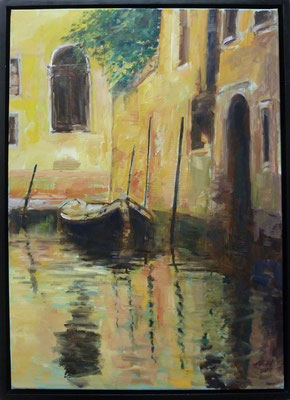 Venice , Evening Light, Öl_Lwd.70x50cm