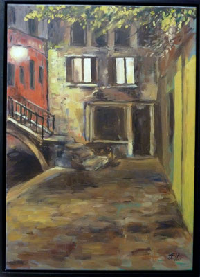 Venice By Night, Öl_Lwd. 50x70cm