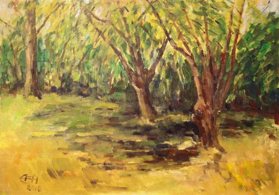 Summer Afternoon in The Garden, Öl_Lwd. 70x50cm