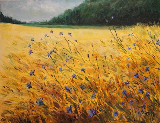 Cornflowers, 70x90cm Öl_lwd.