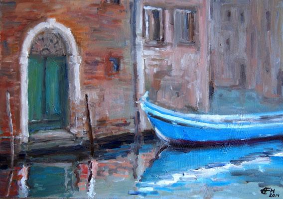 Venezia II,Öl_Leinw.23x32cm