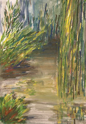 By The Pond   Pastellkreide 29,7x42cm