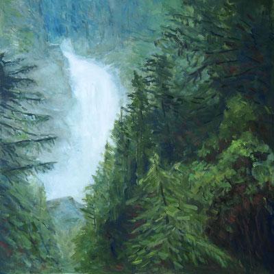 Waterfall  Öl_Lwd.80x80cm