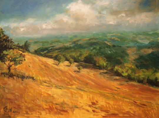 Landscape In The Marche, Italy  Öl_Lwd.60x80cm