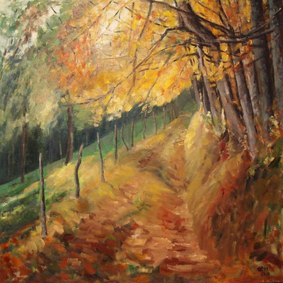 Autumn Leaves Nr. 4, Öl_Lwd.80x80cm