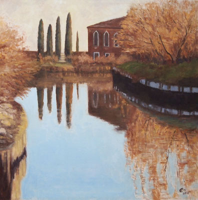 Torcello In February,80x80cm,Öl_Lwd.