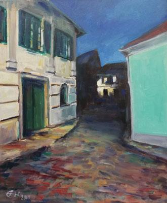 Nightwalk  Öl_Lwd. 50x60cm