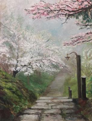 Japanese Garden, Öl_Lwd. 70x90cm