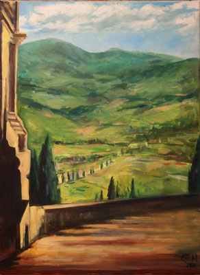 On The Way In Tuscany, Öl_Lwd.60x80cm