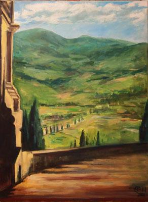 On The Way In Tuscany, Öl_Lwd.60x80cm