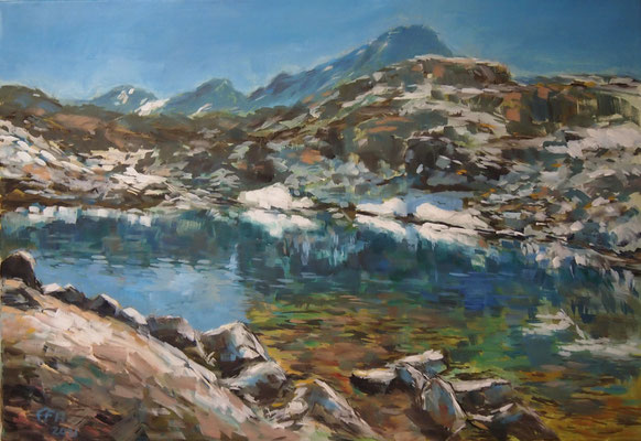 High In The Mountains, Öl_Lwd.70x100cm