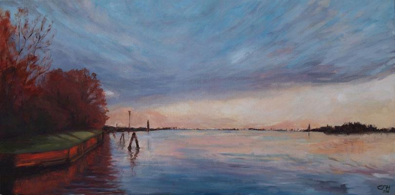 Sunset Venice,50x100cm,Öl_Lwd.