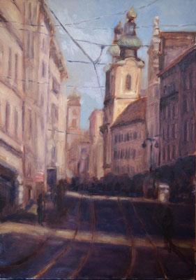 Linz Landstrasse Öl_Lwd.70x50