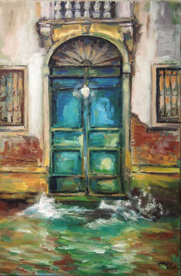 Venice by Night Nr.2, Öl_Lwd.40x60cm