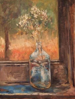 Window Nr.3, Late Afternoon Öl_Lwd.50x60cm
