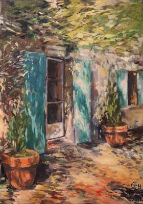 Door To The Garden, Öl_Lwd.