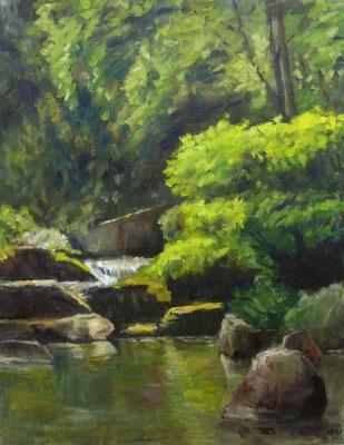 Japanese Garden Nr. 3, Öl_Lwd. 70x90cm