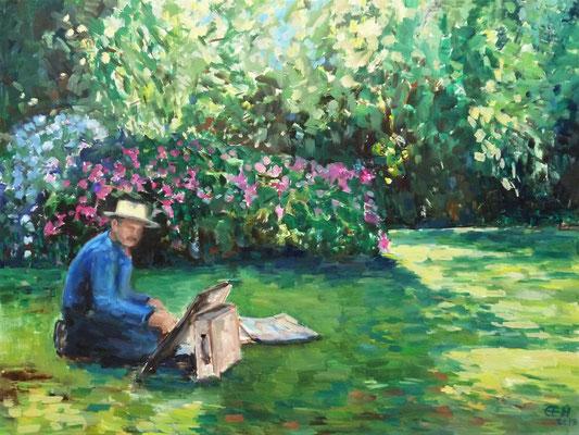 Der Maler, Öl_Lwd. 60x80cm