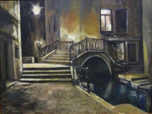 Night In Venice, Öl_Lwd.60x80cm