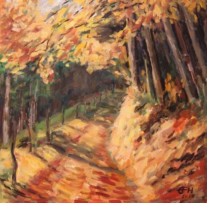 Autumn Glow, Öl_Lwd.50x50cm
