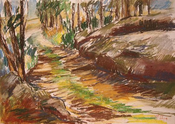 Past Rocks And Stones   Pastellkreide 29,7x42cm