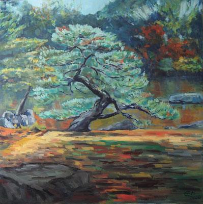 Japanese Garden Nr.4, Öl_Lwd. 80x80cm