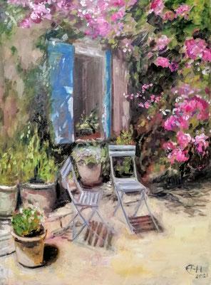 Window To The Garden, Provence  Öl_Lwd.60x80cm