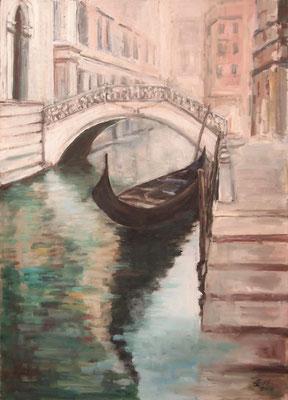 Misty Morning In Venice, Öl_Lwd.50x70cm