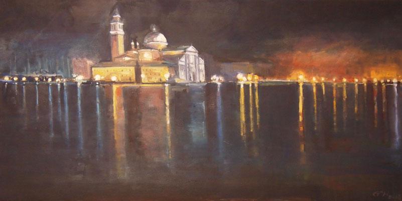 Lights Of Venice, Öl_Lwd.100x50cm
