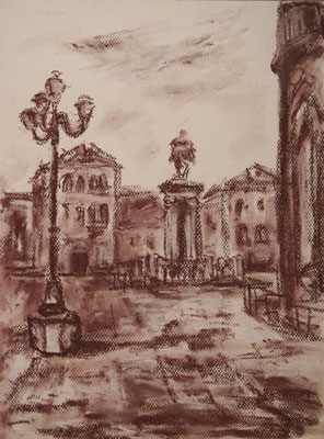 Campos San Giovanni e Paolo, Pastellzeichnung