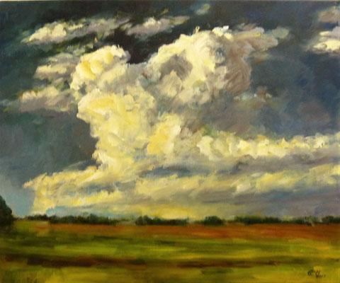 Cloudy Sky, Öl_Lwd. 60x50cm