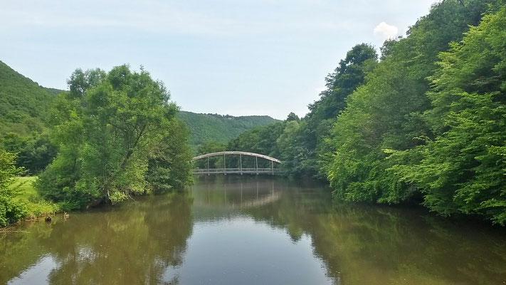 Rurüberquerung an der grünen Brücke