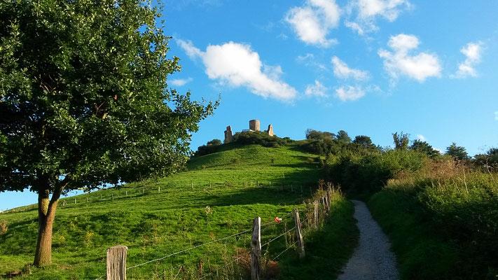 Imposante Lage der Burg
