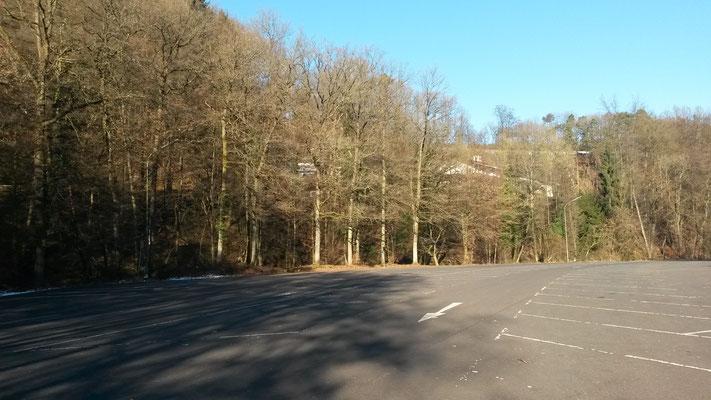 Womo-Stellplatz am Märchenwald, nix los im Januar,