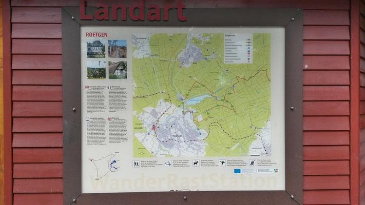 Hinweistafeln von Landart