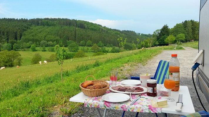 Frühstücksblick, einmalig idyllisch