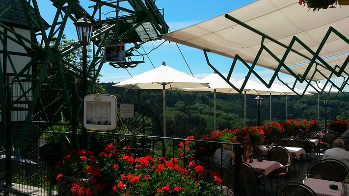 An der Seilbahn Cafe zur schönen Aussicht