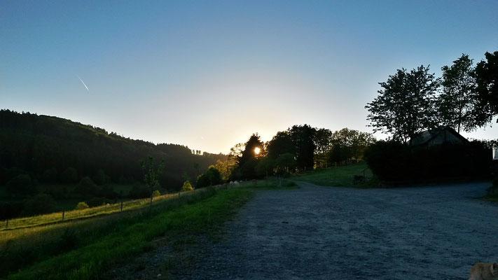 Sonnenuntergang am Sonnenhof