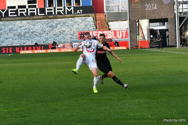 Auch Markus Ebner konnte an seiner alten Wirkungsstätte nicht an den Torerfolg seines letzten Spieles anschliessen